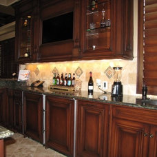 Traditional Home Theater by Brandi Smith