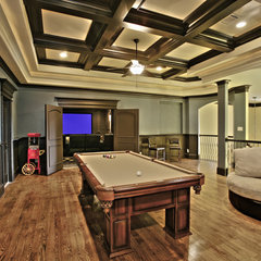 eclectic media room Game Room