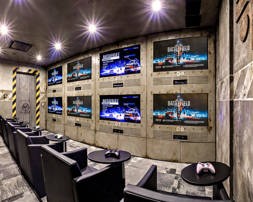 Video Game Room Home Design Ideas Pictures Remodel And Decor