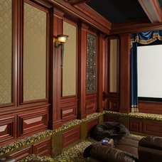 Traditional Home Theater by Miller Architecture