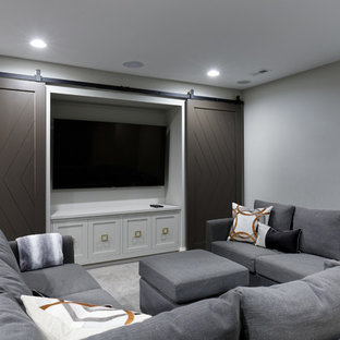75 Most Popular Transitional Home Theater Design Ideas For 2018