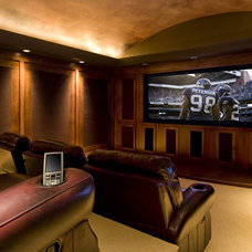 Traditional Home Theater by Garrison Hullinger Interior Design Inc.