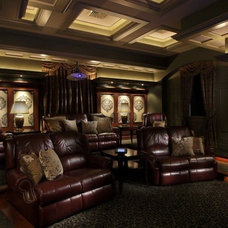Traditional Home Theater by Room Service Home Techonologies