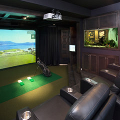 traditional media room Golf Simulators