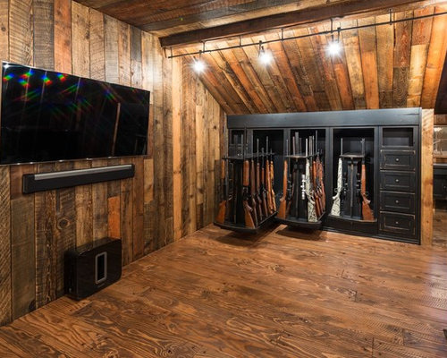Rustic open concept home theater design ideas remodels for Rustic concept