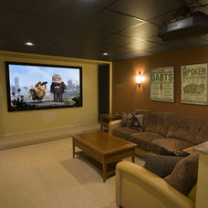 contemporary media room by Gramophone