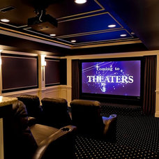 Traditional Home Theater by Encore Custom Audio Video