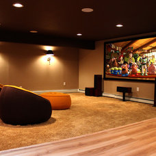Modern Home Theater by IDS Audio Video & Technologies