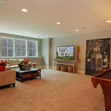Transitional Home Theater by Great Neighborhood Homes