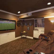 Contemporary Home Theater by Green Basements & Remodeling