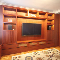 modern media room by k2studio
