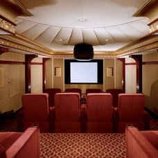 Traditional Home Theater by Douglas VanderHorn Architects