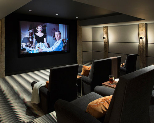 Our 50 Best Farmhouse Living Space with a Projector Screen Ideas ...