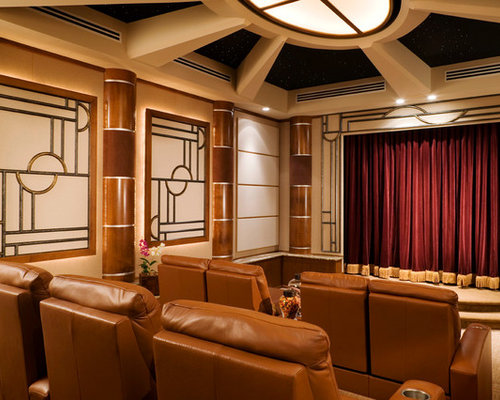 art deco home theater houzz. Black Bedroom Furniture Sets. Home Design Ideas