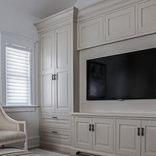 Beach Style Home Theater by Quality Custom Cabinetry, Inc