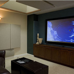 traditional media room by Harrell Remodeling