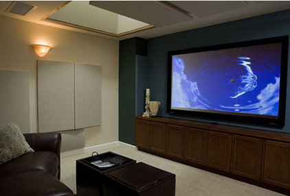Traditional Home Theater by Harrell Remodeling