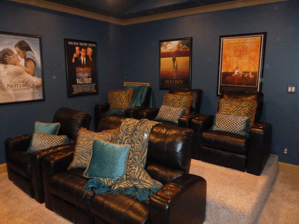 Traditional Home Theater by TLC Designs