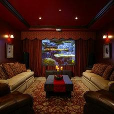 Mediterranean Home Theater by ZS Interior Design