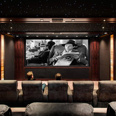 Traditional Home Theater by Sutro Architects
