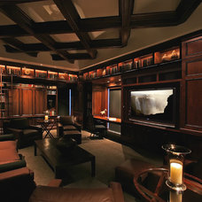 Traditional Home Theater by Deep River Partners