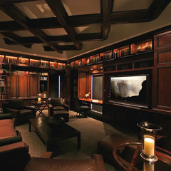 contemporary media room by Deep River Partners