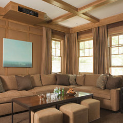 traditional media room by Tim Barber LTD Architecture & Interior Design