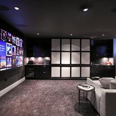 Contemporary Home Theater by Integrisys