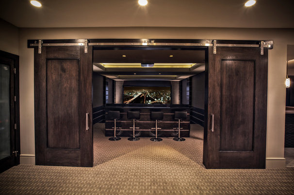 Contemporary Home Theater by Big Fish Automation