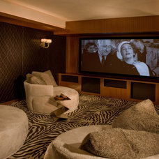 Modern Home Theater by TempleHome