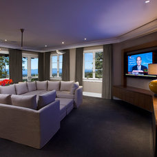 Contemporary Home Theater by Maienza - Wilson Interior Design + Architecture