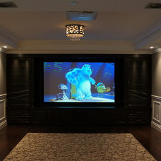 Traditional Home Theater by AV LOUNGE