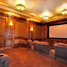 Traditional Home Theater by Authentic Designs & Remodeling Inc.