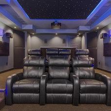 Modern Home Theater by Amaris Custom Homes