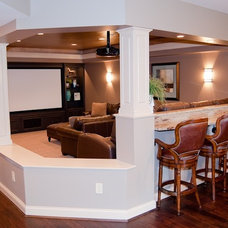 Traditional Home Theater by SimpTech Solutions