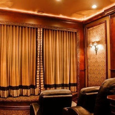 Traditional Home Theater by Puerta Bella Interior Design