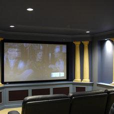Contemporary Home Theater by Benvenuti and Stein