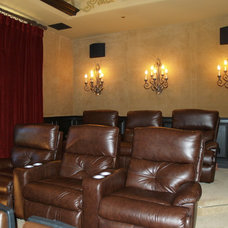 Traditional Home Theater by Creative Sound and Integration