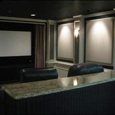 Traditional Home Theater by Harvey's Kitchens and Baths