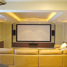 Modern Home Theater by Frank-Lin Interiors, Inc