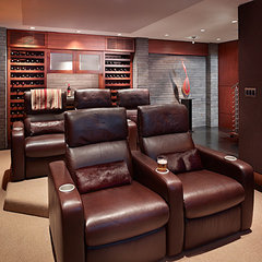 contemporary media room by Gelotte Hommas Architecture
