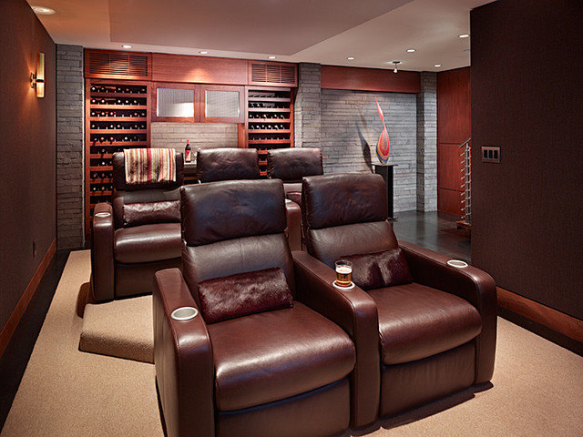 Contemporary Home Theater by Gelotte Hommas Architecture