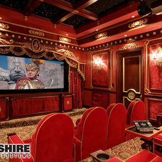 Traditional Home Theater by Wilshire Home Entertainment