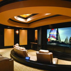 Contemporary Home Theater by Home Theater Experts Lakeland Winter Haven Florida