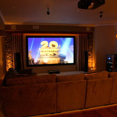 Traditional Home Theater by Home Theater Solutions