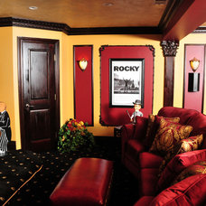 Traditional Home Theater by I and I Designs LLC