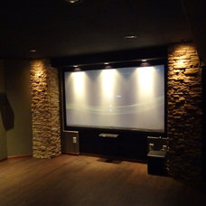 Contemporary Home Theater home theater