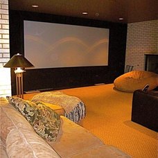 Contemporary Home Theater by InterDesign Studio