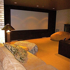 contemporary media room by InterDesign Studio
