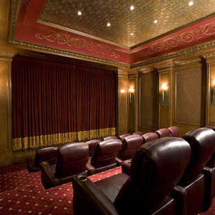 Delightful Home Theater   Traditional Home Theater Idea In Las Vegas